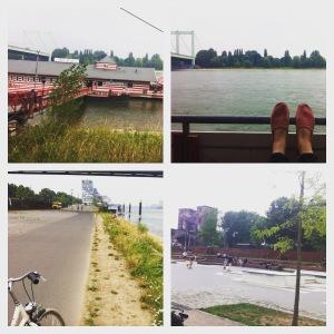 Fahrradtour am Rhein zum Bootshaus