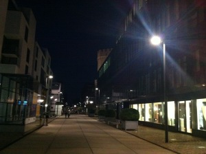 Der Rheinauhafen bei Nacht