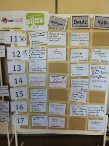 Sessionsplan BarCamp Köln (1. Tag)