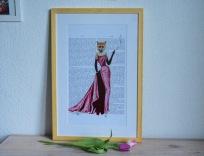 "Gerahmter Kunstdruck ""Lady Fox"""