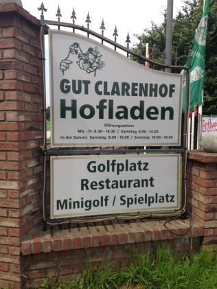 Eingang Gut Clarenhof