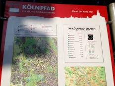 Kölnpfad Etappe 2 - Streckenübersicht