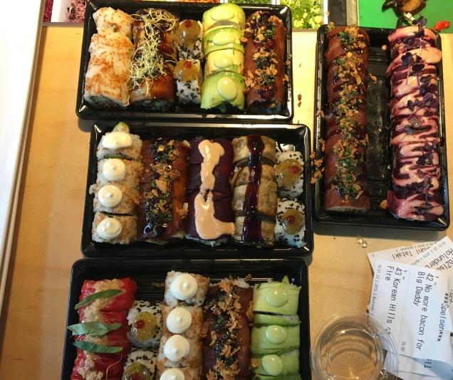 Noch mehr veganes Sushi