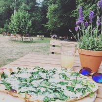 Flammkuchen with a view